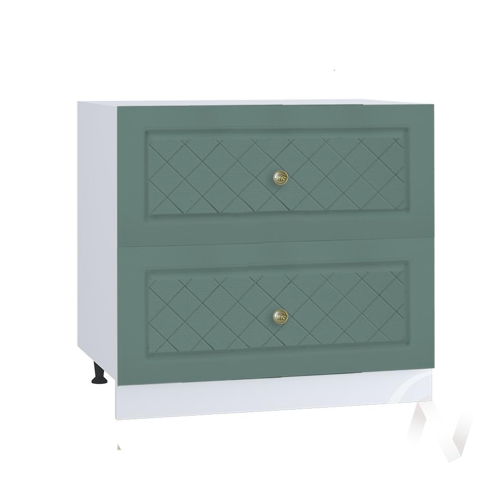 """Кухня """"Селена"""": Шкаф нижний с 2-мя ящиками 800, ШН2Я 800 (Дуб бирюзовый/корпус белый)"""