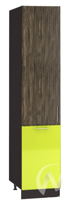 "(1)Кухня ""Норден"": Шкаф пенал 400, ШП 400 (старое дерево/лайм глянец/корпус венге)"