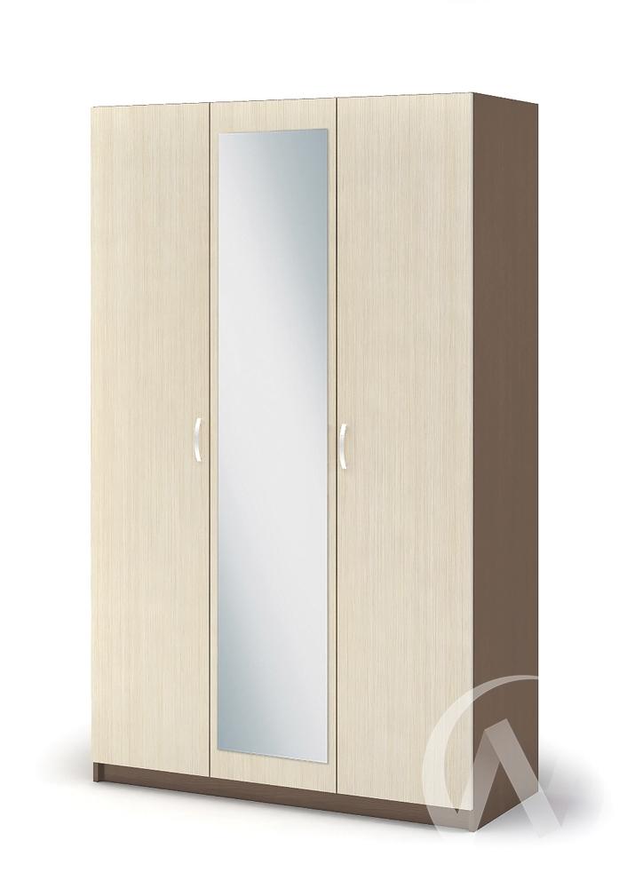 Шкаф 3-х створчатый ШК 553 Спальня Бася (шимо темный/шимо светлый)