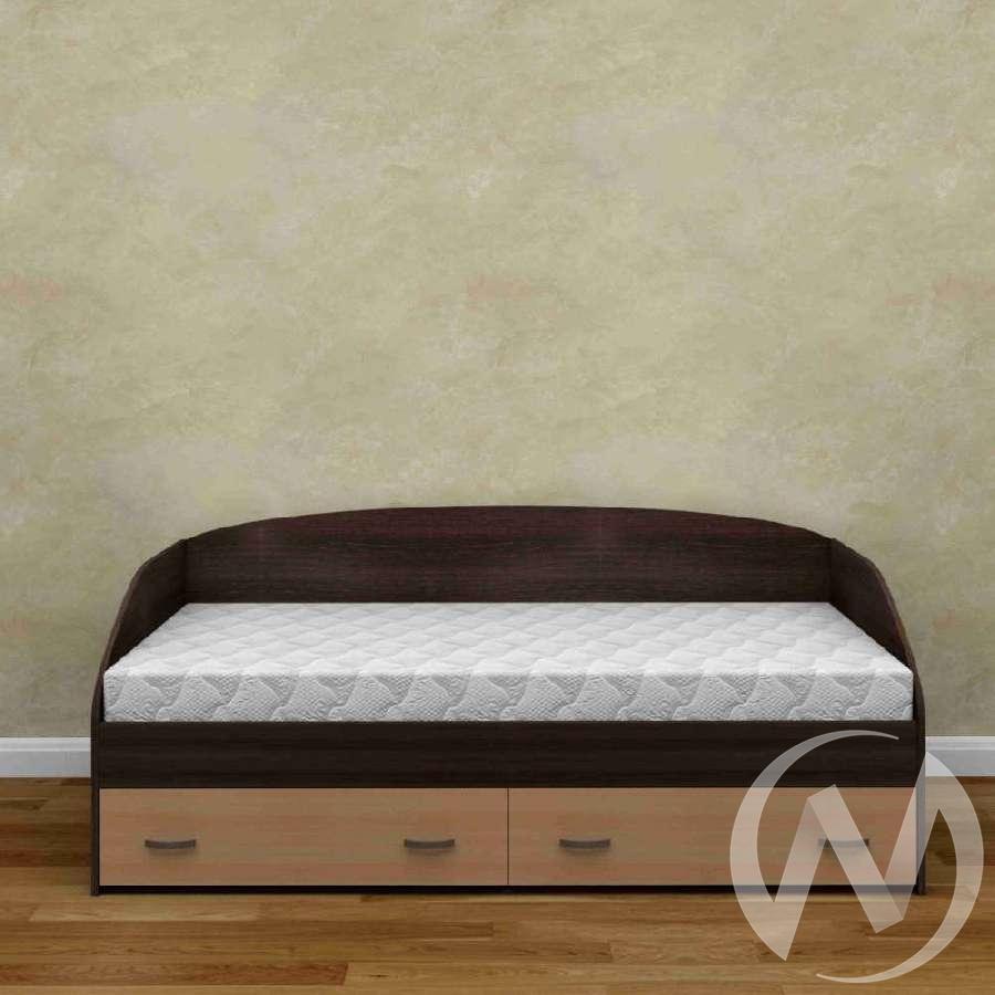 Кровать Радуга ЛДСП б/м (венге-выбеленный дуб)