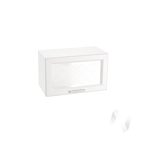 """Кухня """"Вена"""": Шкаф верхний горизонтальный со стеклом 600, ШВГС 600 (корпус белый) в Новосибирске в интернет-магазине мебели kuhnya54.ru"""