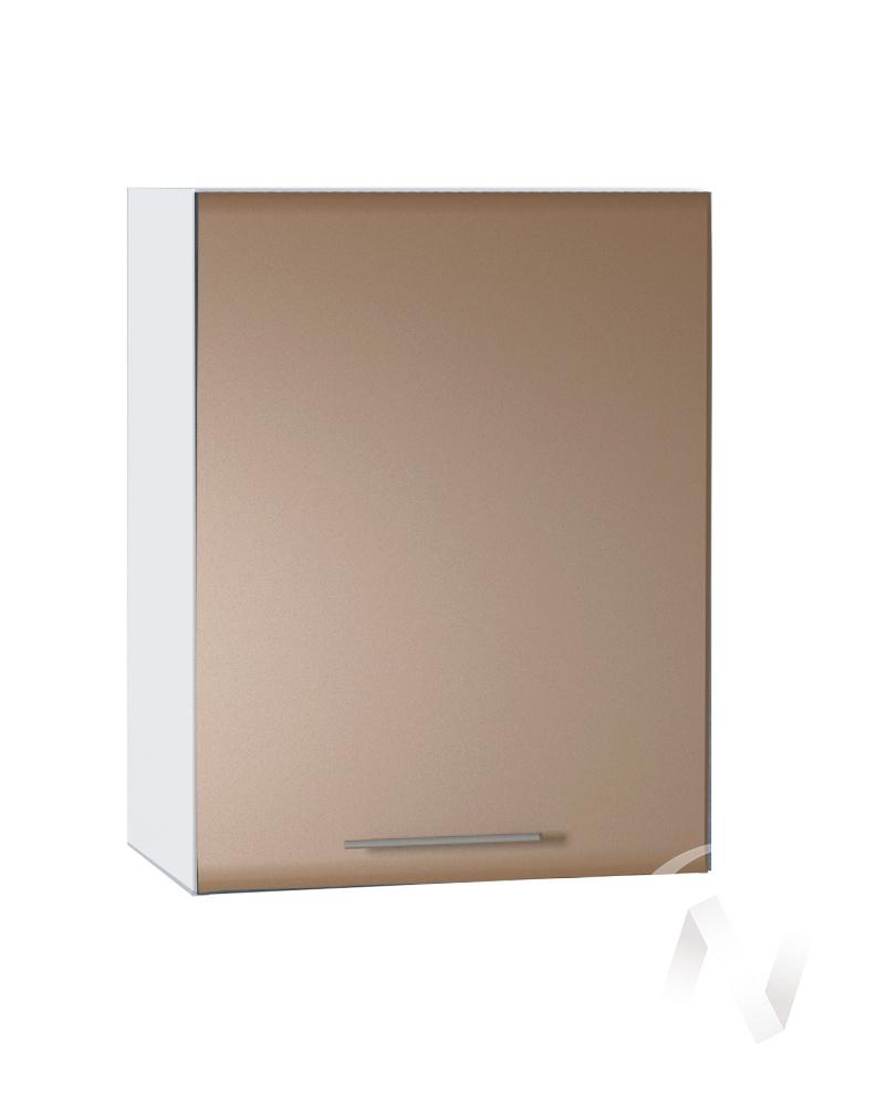 """Кухня """"Люкс"""": Шкаф верхний 500, ШВ 500 (Шоколад матовый/корпус белый)"""