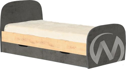 Космос М12 Кровать с ящиками 800*2000 (дуб бунратти/бетон чикаго)
