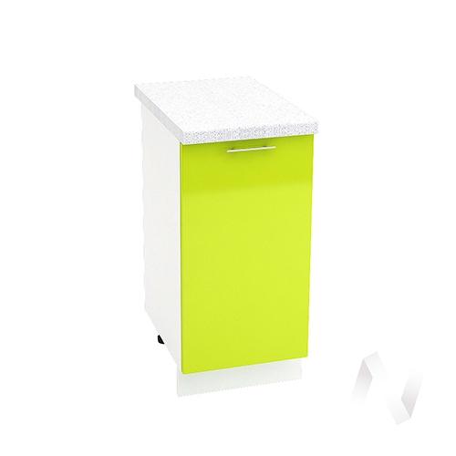 "Кухня ""Валерия-М"": Шкаф нижний 400, ШН 400 (лайм глянец/корпус белый)"