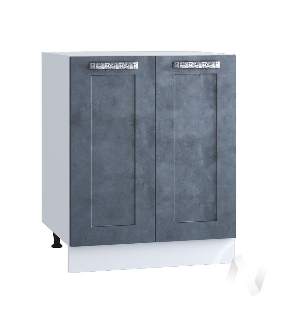 "Кухня ""Лофт"": Шкаф нижний 600, ШН 600 (Бетон графит/корпус белый)"