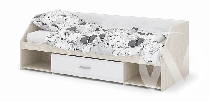 Кровать Симба (дуб белфорд/белый глянец)