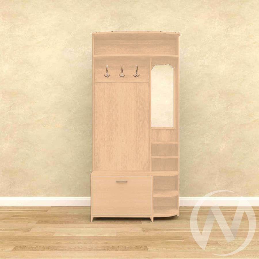 Прихожая 02 (выбеленный дуб)  в Томске — интернет магазин МИРА-мебель