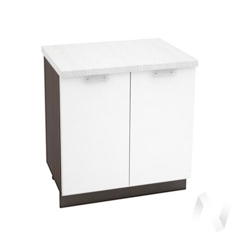 "Кухня ""Валерия-М"": Шкаф нижний 800, ШН 800 (белый глянец/корпус венге)"