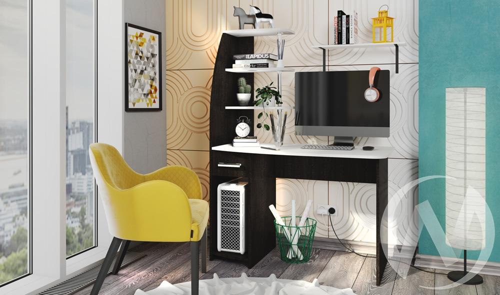 Стол компьютерный Скай NEW (венге,лоредо/лоредо)