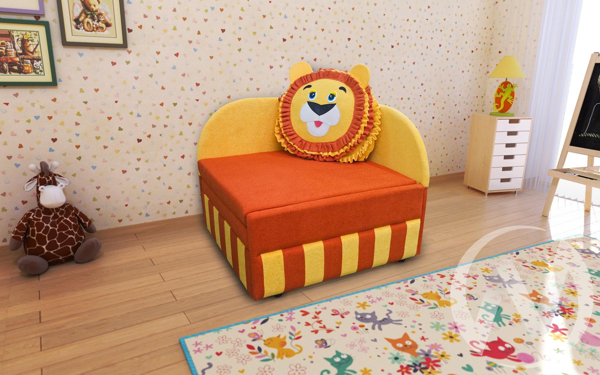 Лев диван детский правый недорого в Томске — интернет-магазин авторской мебели Экостиль
