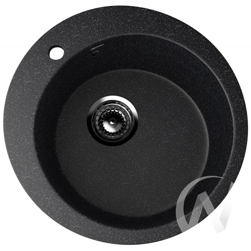 Мойка круглая из искусственного камня U-405 (черный 308)  в Томске — интернет магазин МИРА-мебель
