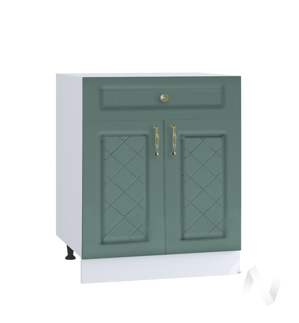 """Кухня """"Селена"""": Шкаф нижний с ящиком 600, ШН1Я 600 М (Дуб бирюзовый/корпус белый)"""