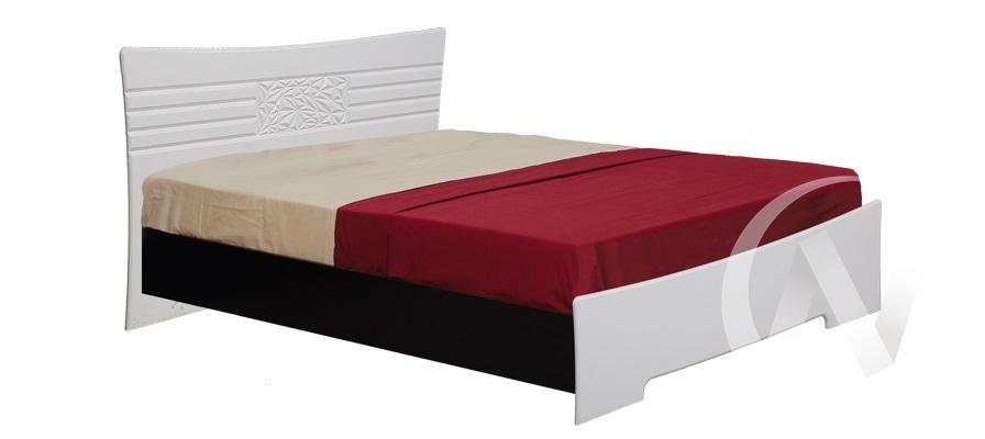 Атлантида Кровать 1,6  (венге-белый глянец)