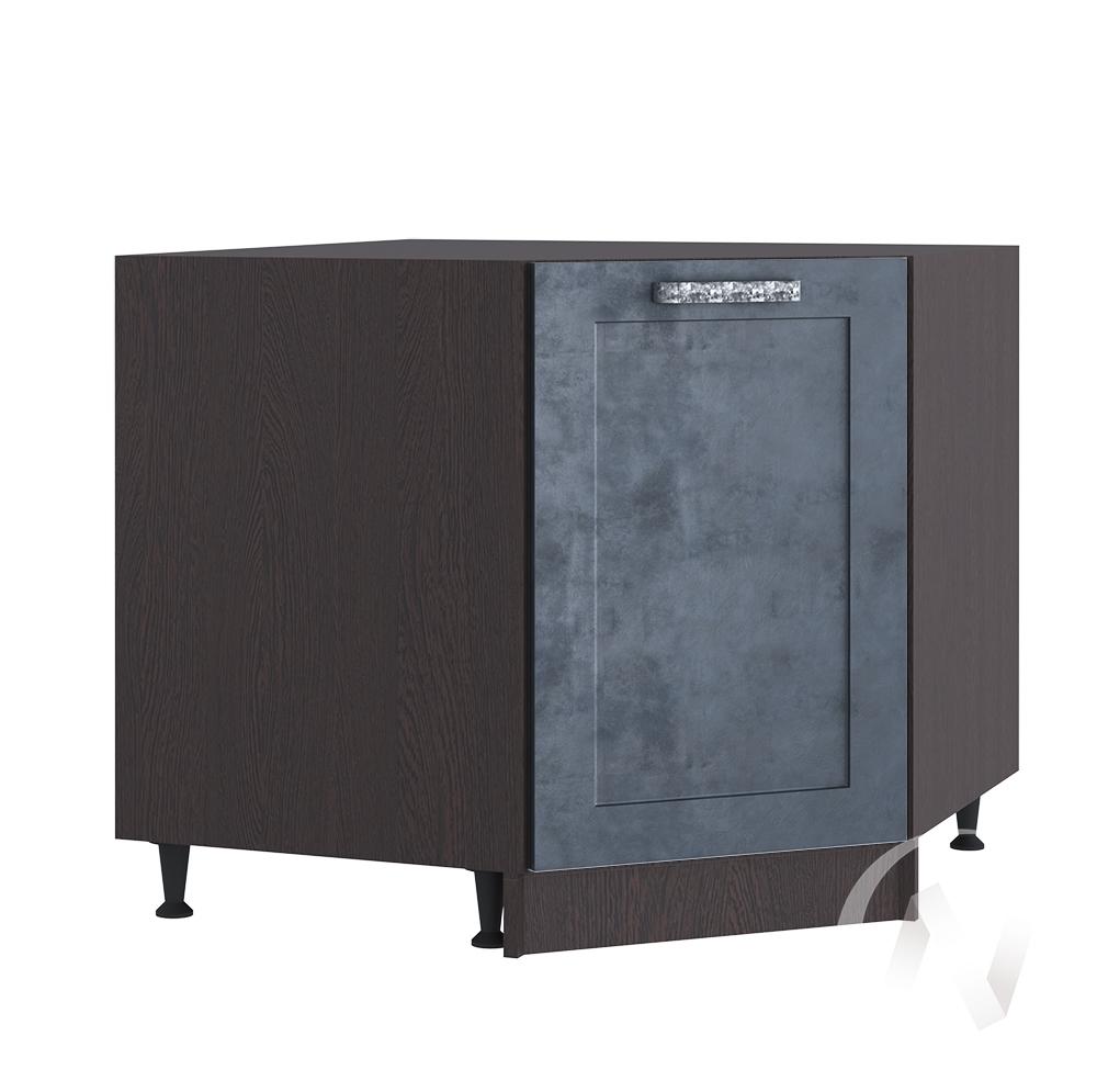 """Кухня """"Лофт"""": Шкаф нижний угловой 890, ШНУ 890 (Бетон графит/корпус венге)"""