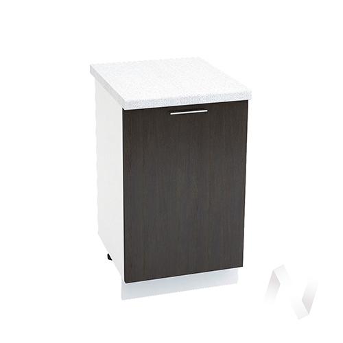 "Кухня ""Валерия-М"": Шкаф нижний 500, ШН 500 (венге/корпус белый)"