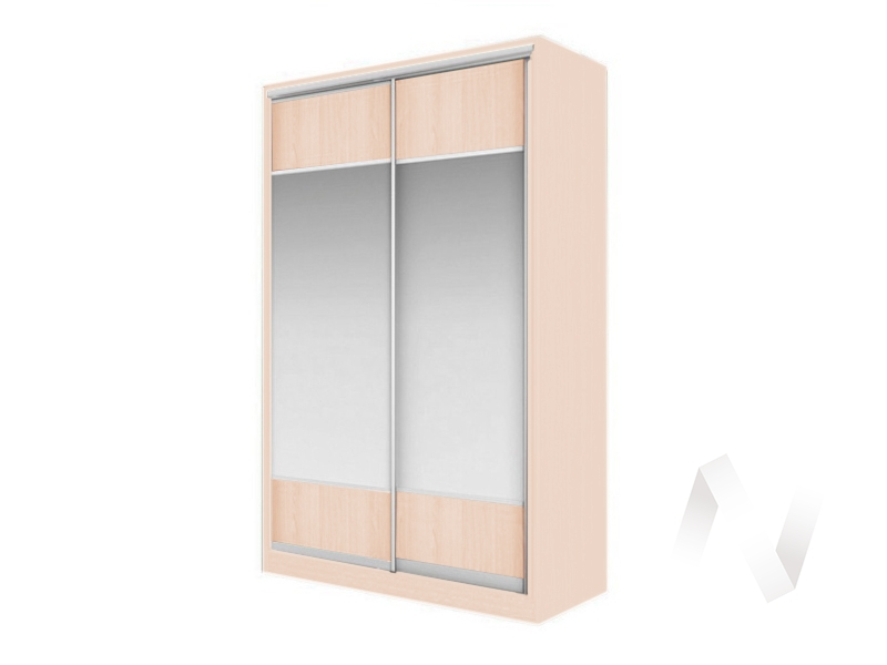 Шкаф-купе «Элвис» 2-х дверный Витрина (дуб сонома/дуб сонома)