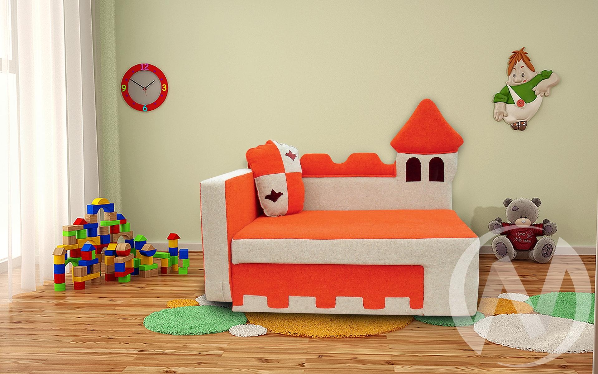 Замок диван детский левый недорого в Томске — интернет-магазин авторской мебели Экостиль