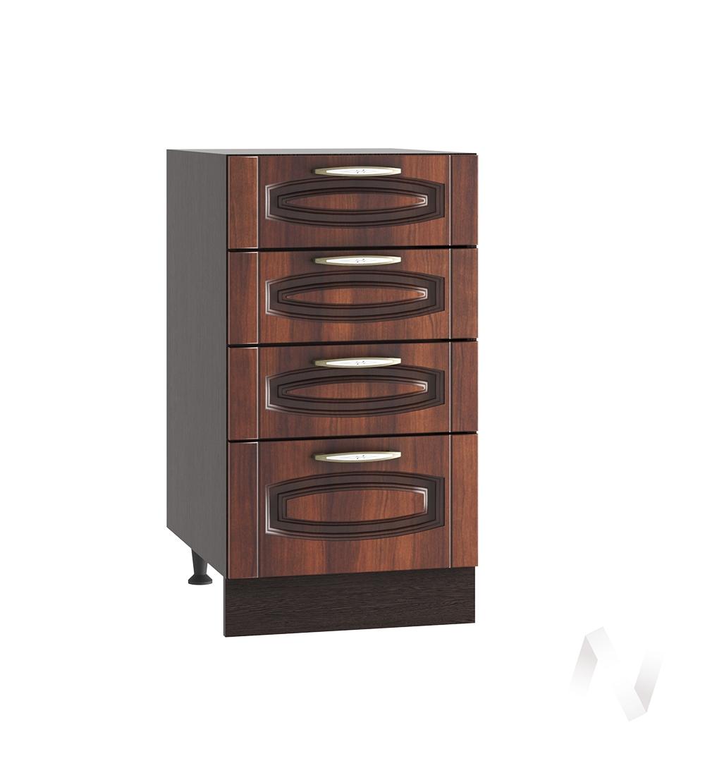 """Кухня """"Неаполь"""": Шкаф нижний с 4-мя ящиками 400, ШН4Я 400 (Италия/корпус венге)"""