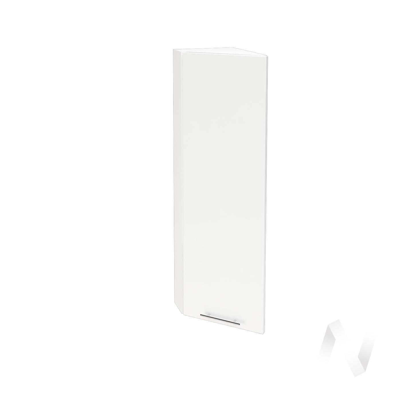 """Кухня """"Валерия-М"""": Шкаф верхний торцевой 224Н, ШВТ 224Н (белый глянец/корпус белый)"""