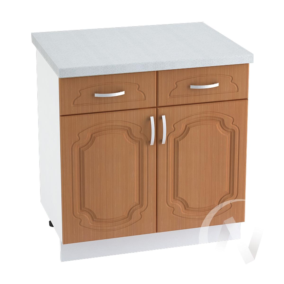 """Кухня """"Настя"""": Шкаф нижний с ящиками 800, ШН1Я 800 (Орех миланский/корпус белый)"""