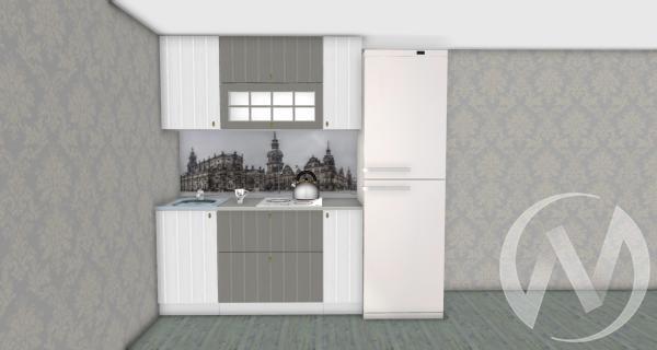 Кухня Прованс серый/белое дерево 1,6№3