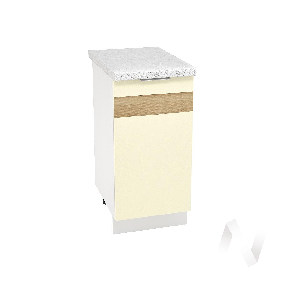 "Кухня ""Терра"": Шкаф нижний правый 400, ШН 400 (ваниль софт/корпус белый)"