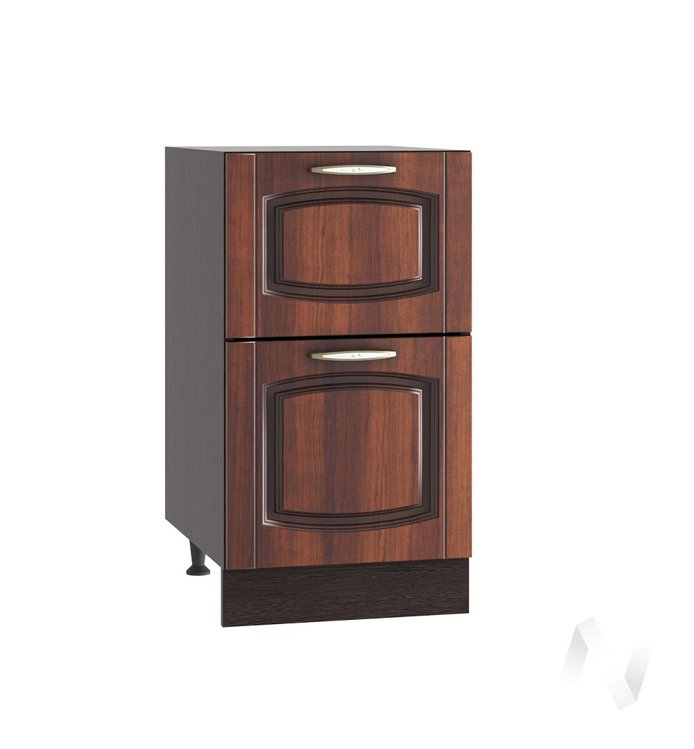 """Кухня """"Неаполь"""": Шкаф нижний с 2-мя ящиками 400, ШН2Я 400 (Италия/корпус венге)"""