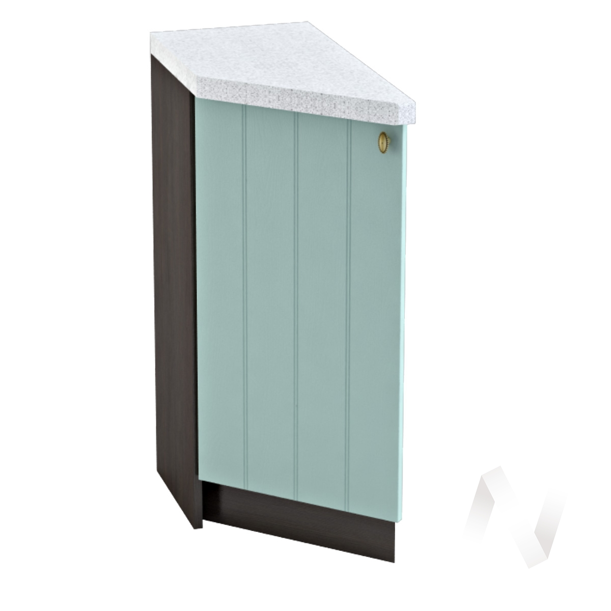 """Кухня """"Прованс"""": Шкаф нижний торцевой 300, ШНТ 300 (голубой/корпус венге)"""