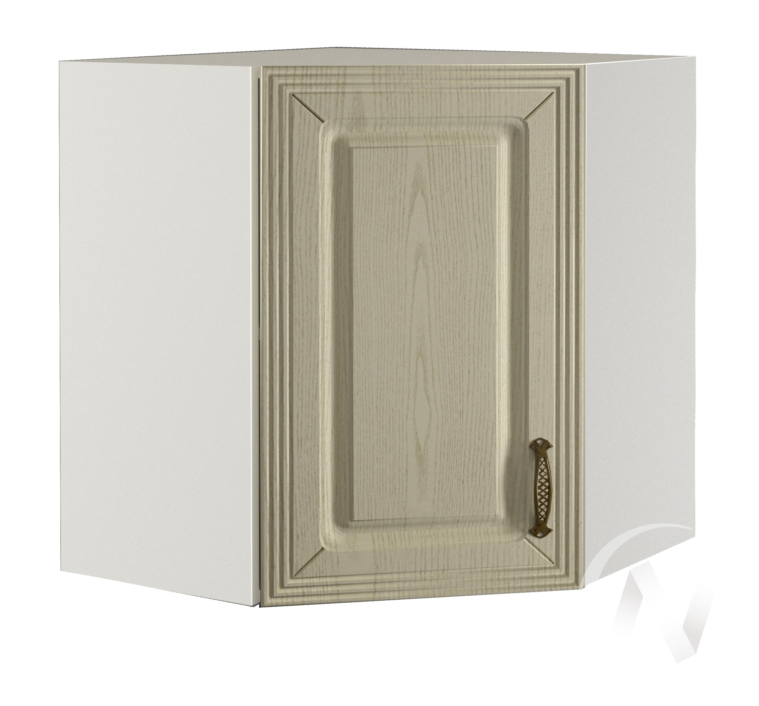 """Кухня """"Изабель"""": Шкаф верхний угловой 590, ШВУ 590 (корпус белый)"""