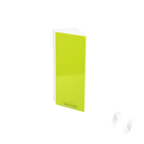 """Кухня """"Валерия-М"""": Шкаф верхний торцевой 224, ШВТ 224 (лайм глянец/корпус белый)"""