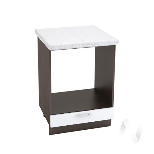 "Кухня ""Валерия-М"": Шкаф нижний под духовку 600, ШНД 600 (белый металлик/корпус венге)"