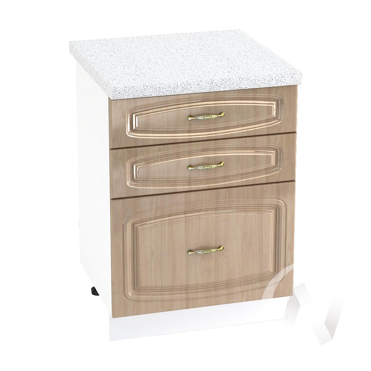 """Кухня """"Сити"""": Шкаф нижний с 3-мя ящиками 600, ШН3Я 600 (корпус белый)"""