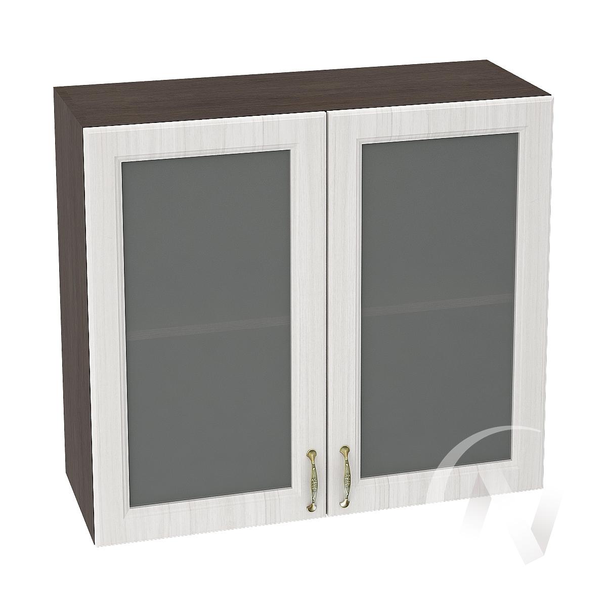 """Кухня """"Виктория"""": Шкаф верхний со стеклом 800, ШВС 800 (корпус венге)"""