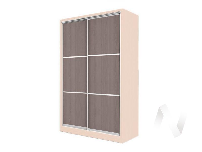 Шкаф-купе «Элвис» 2-х дверный тройной ЛДСП (дуб сонома/шимо темный)  в Томске — интернет магазин МИРА-мебель