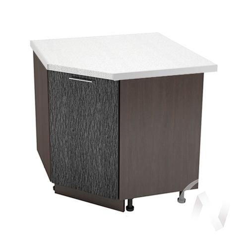 """Кухня """"Валерия-М"""": Шкаф нижний угловой 890, ШНУ 890 (дождь черный/корпус венге)"""