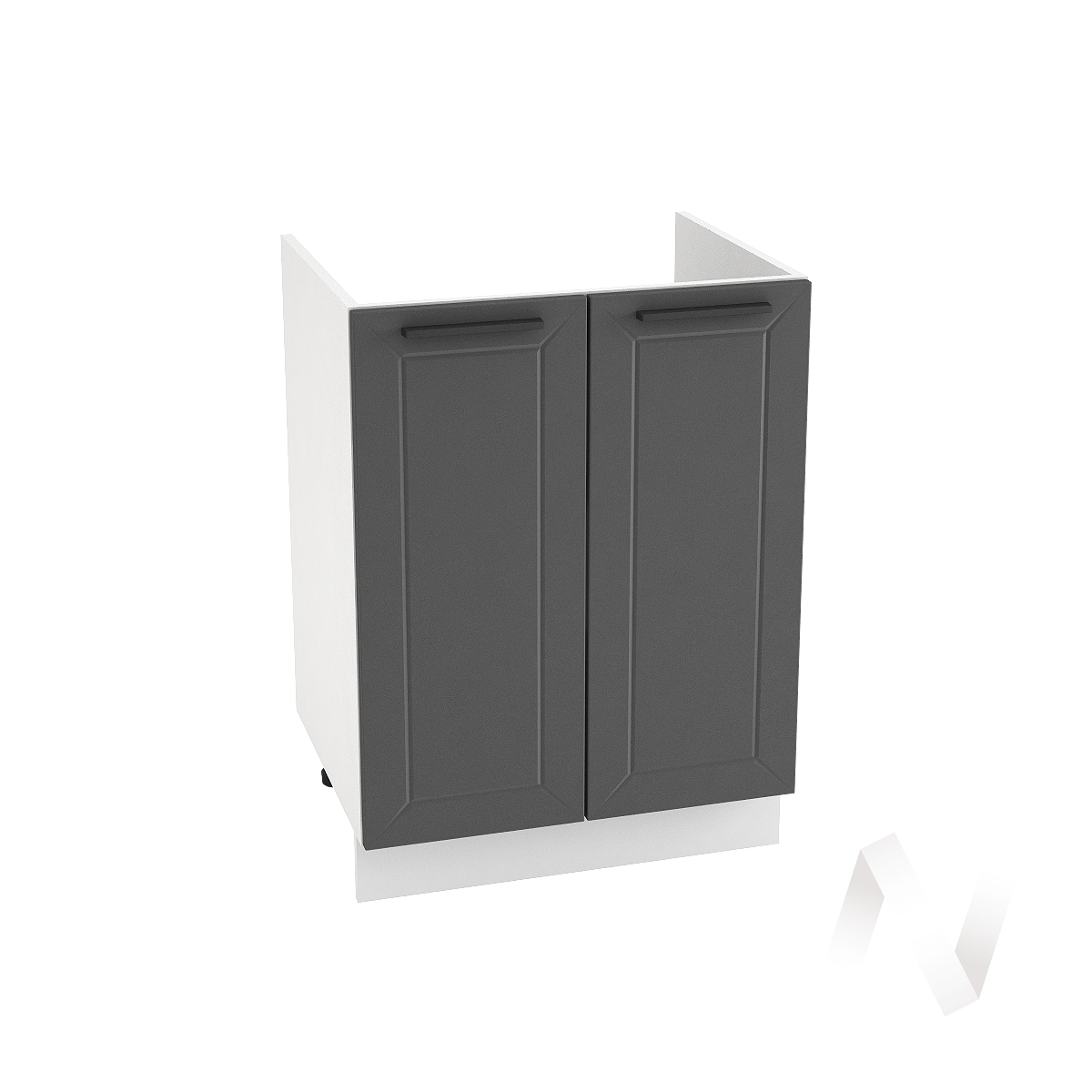 "Кухня ""Глетчер"": Шкаф нижний под мойку 600, ШНМ 600 (Маренго силк/корпус белый)"