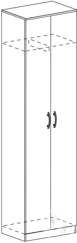 Шкаф скалка ШК 302 Гостиная Макарена (шимо темный/шимо светлый)
