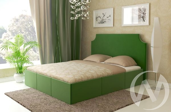 Кровать Венеция 1,6 с подъемным механизмом (зеленая)