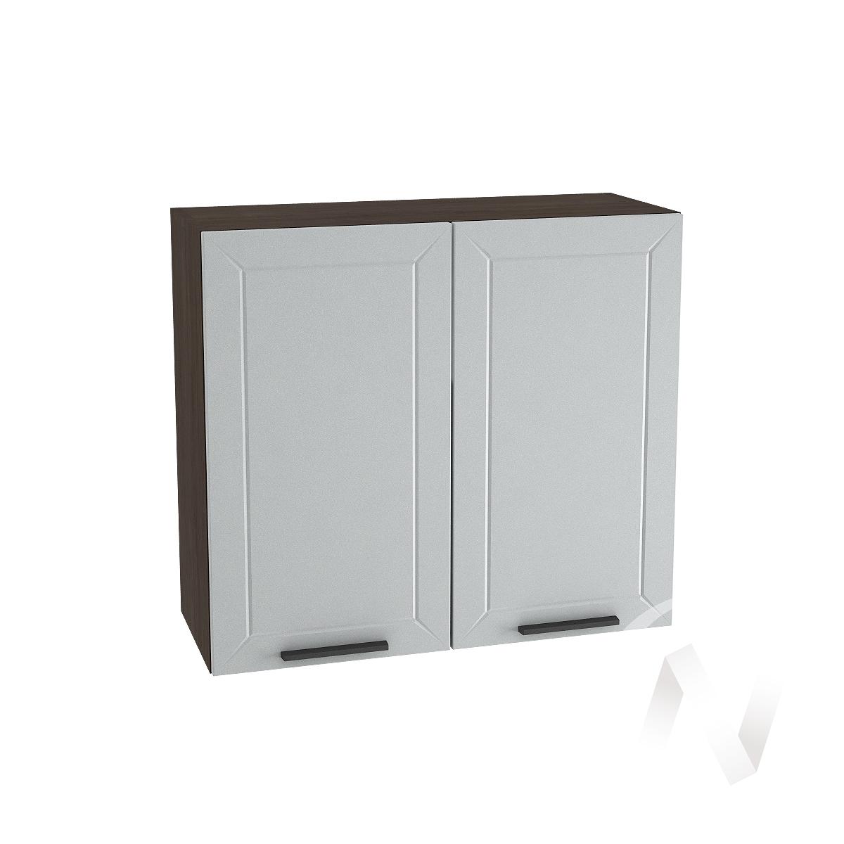 """Кухня """"Глетчер"""": Шкаф верхний 800, ШВ 800 (Гейнсборо Силк/корпус венге)"""