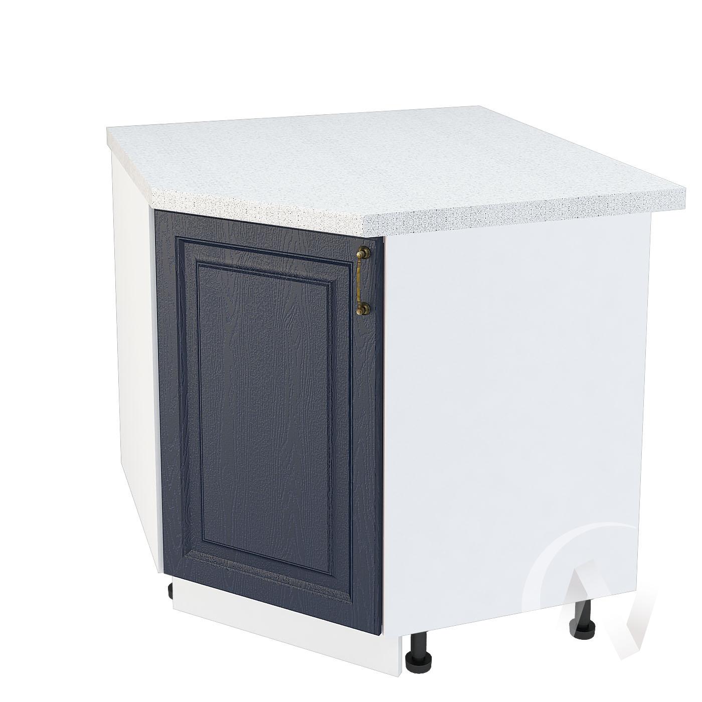 """Кухня """"Ницца"""": Шкаф нижний угловой 890, ШНУ 890 (Дуб чернильный/корпус белый)"""