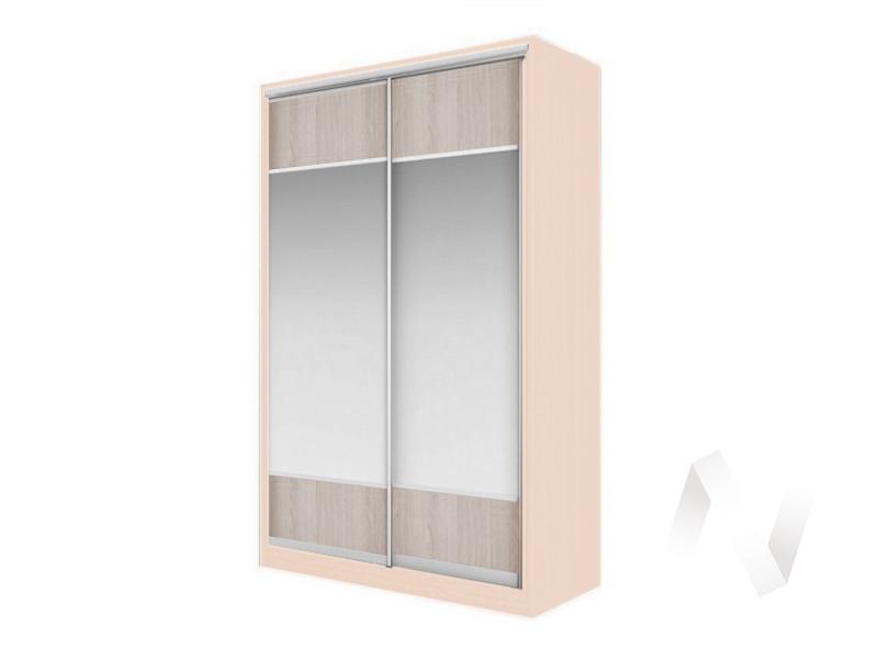 Шкаф-купе «Элвис» 2-х дверный Витрина (дуб сонома/ясень шимо светлый)  в Томске — интернет магазин МИРА-мебель