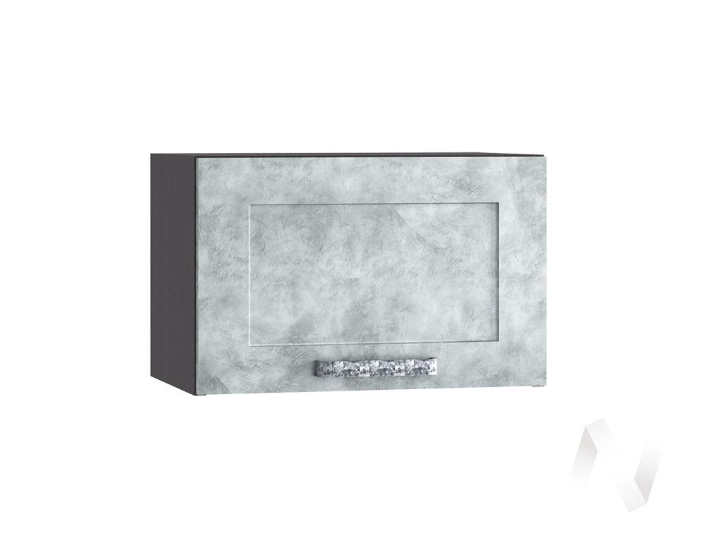 """Кухня """"Лофт"""": Шкаф верхний горизонтальный 500, ШВГ 500 (Бетон серый/корпус венге)"""