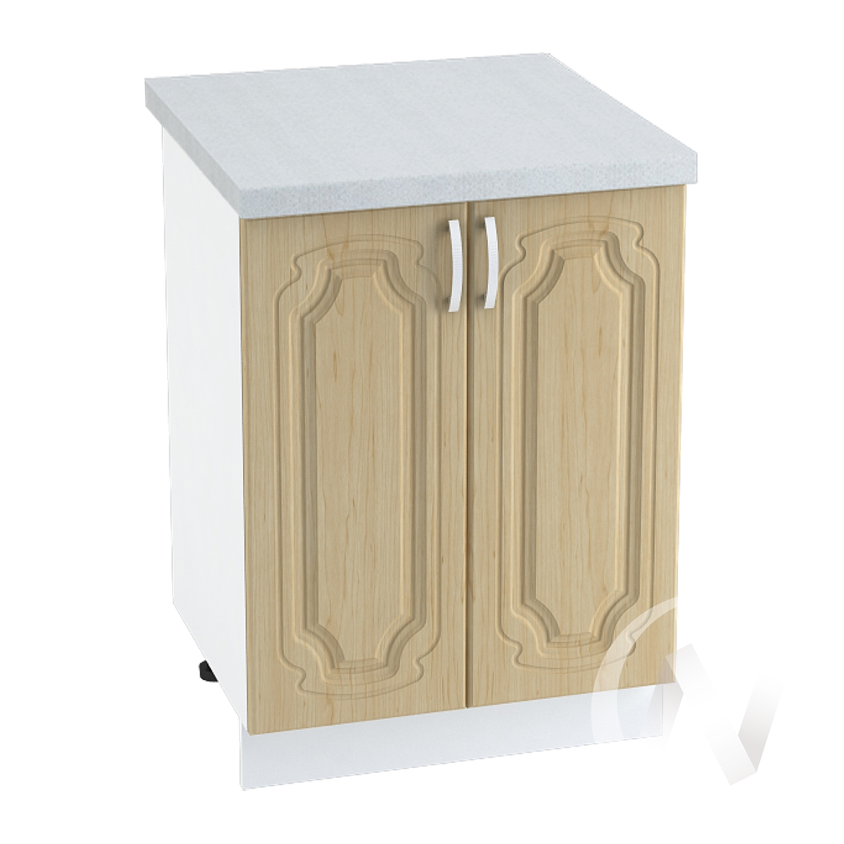 "Кухня ""Настя"": Шкаф нижний 600, ШН 600 (Береза/корпус белый)"
