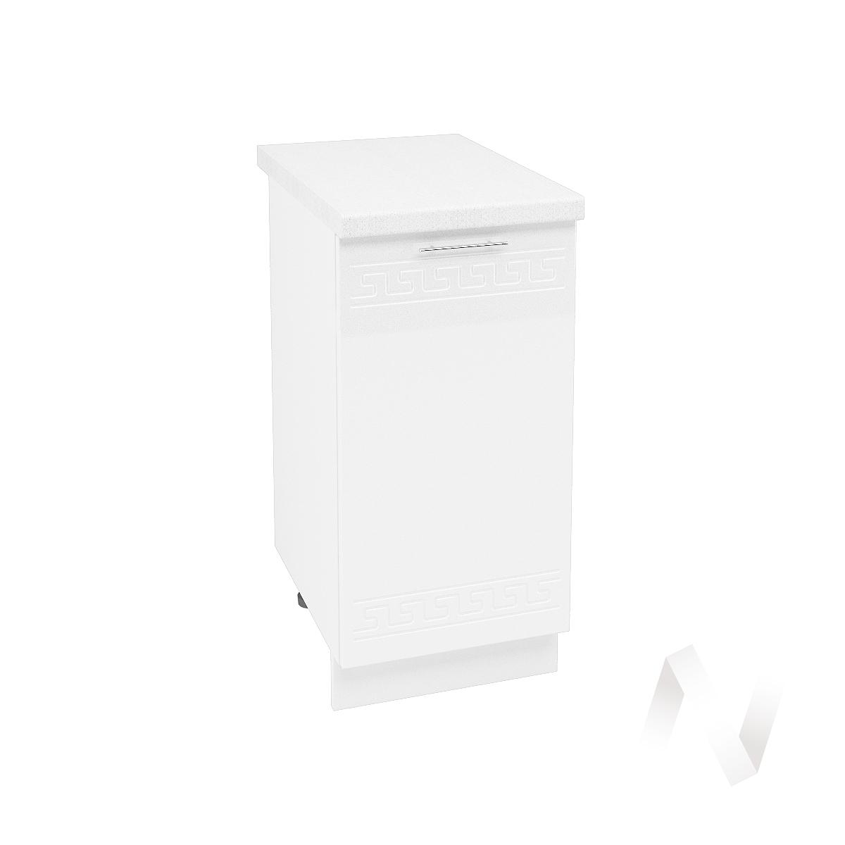 """Кухня """"Греция"""": Шкаф нижний 400, ШН 400 (белый металлик/корпус белый)"""