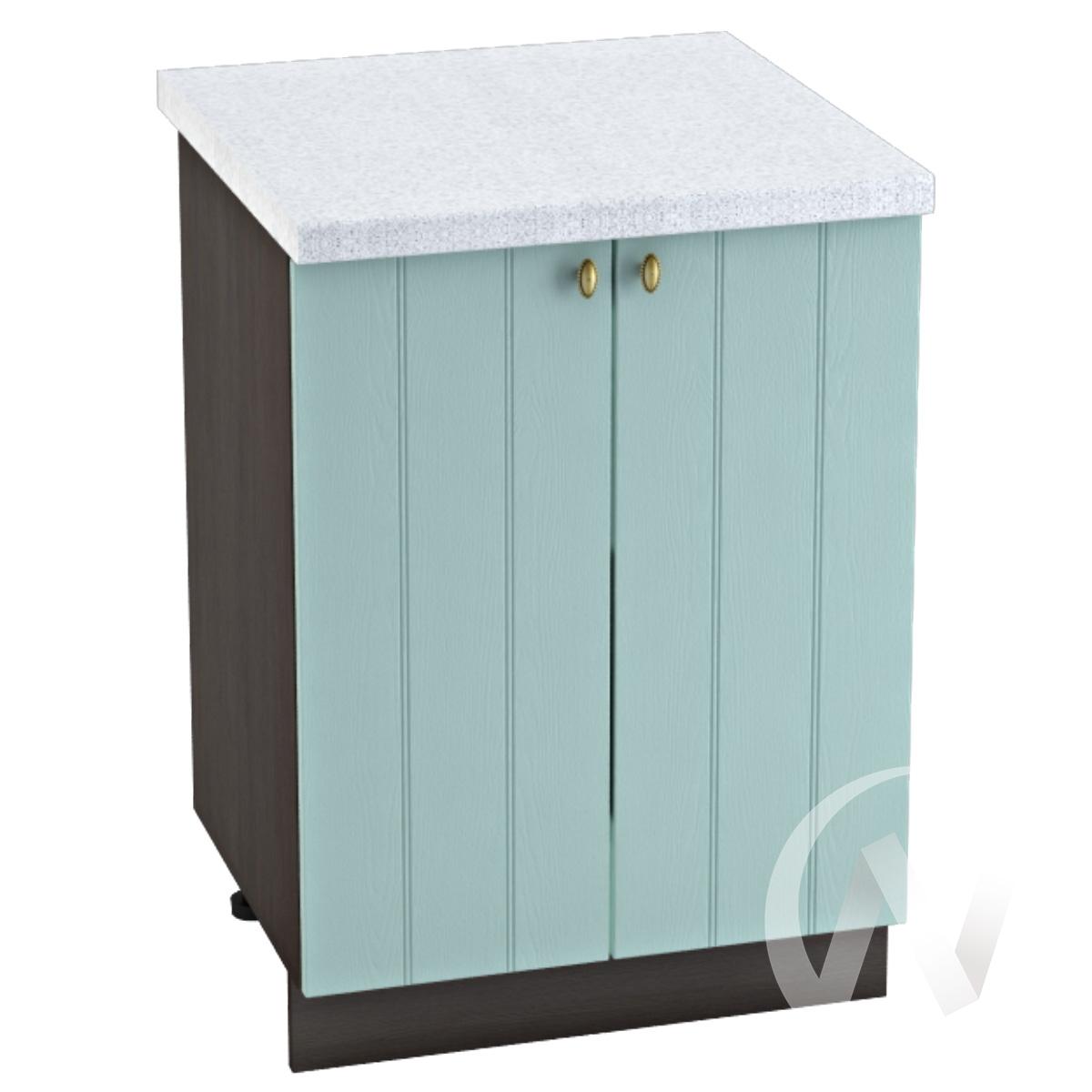 """Кухня """"Прованс"""": Шкаф нижний 600, ШН 600 (голубой/корпус венге)"""