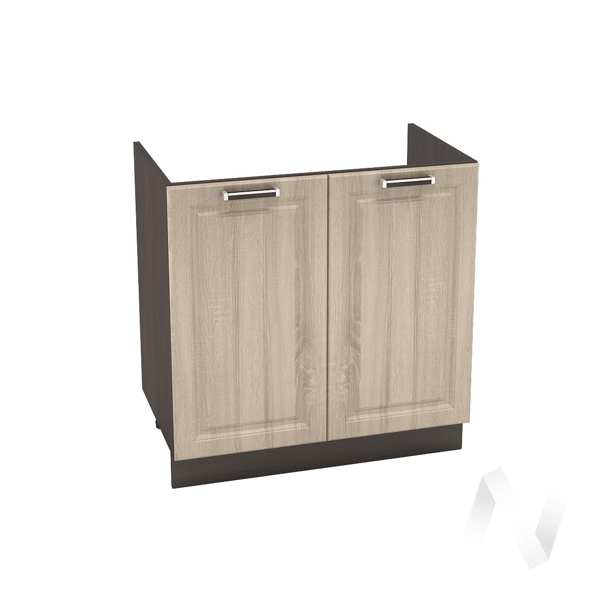 "Кухня ""Прага"": Шкаф нижний под мойку 800, ШНМ 800 (дуб сонома/корпус венге)"