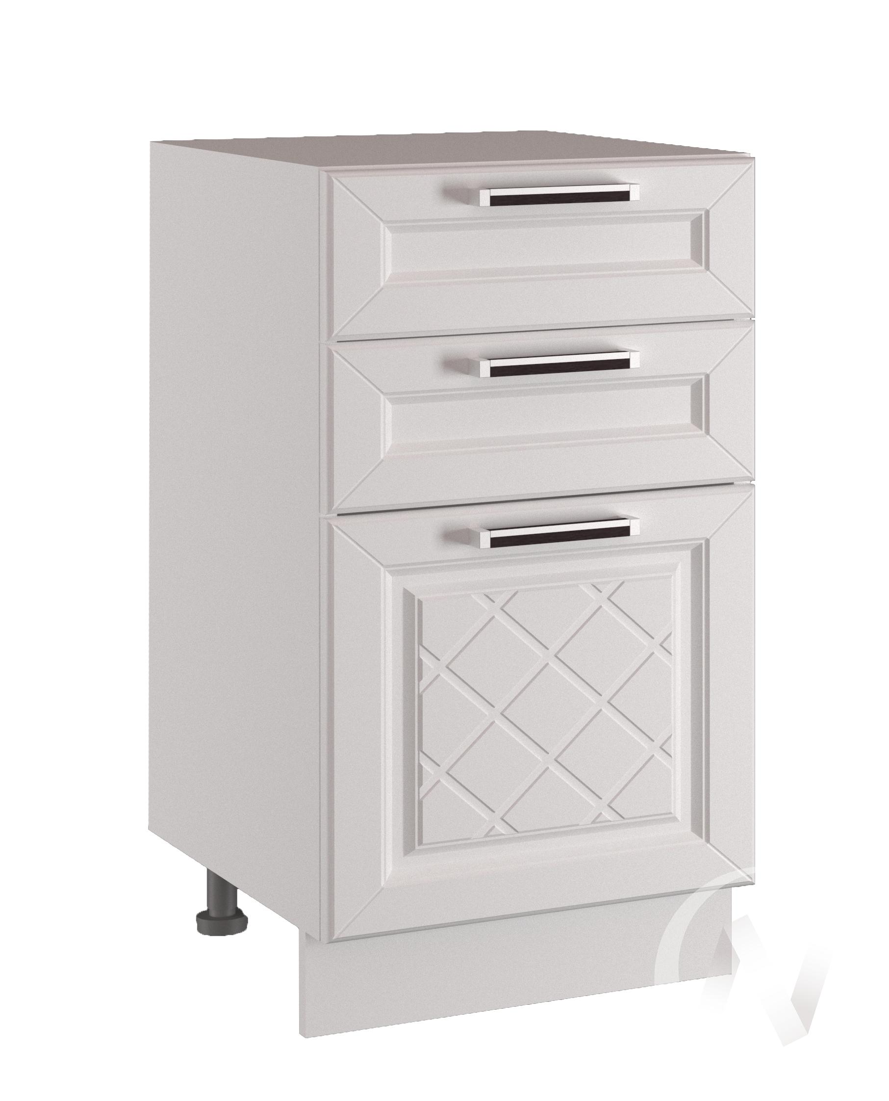 "Кухня ""Вена"": Шкаф нижний с 3-мя ящиками 600, ШН3Я 600 (корпус белый)"