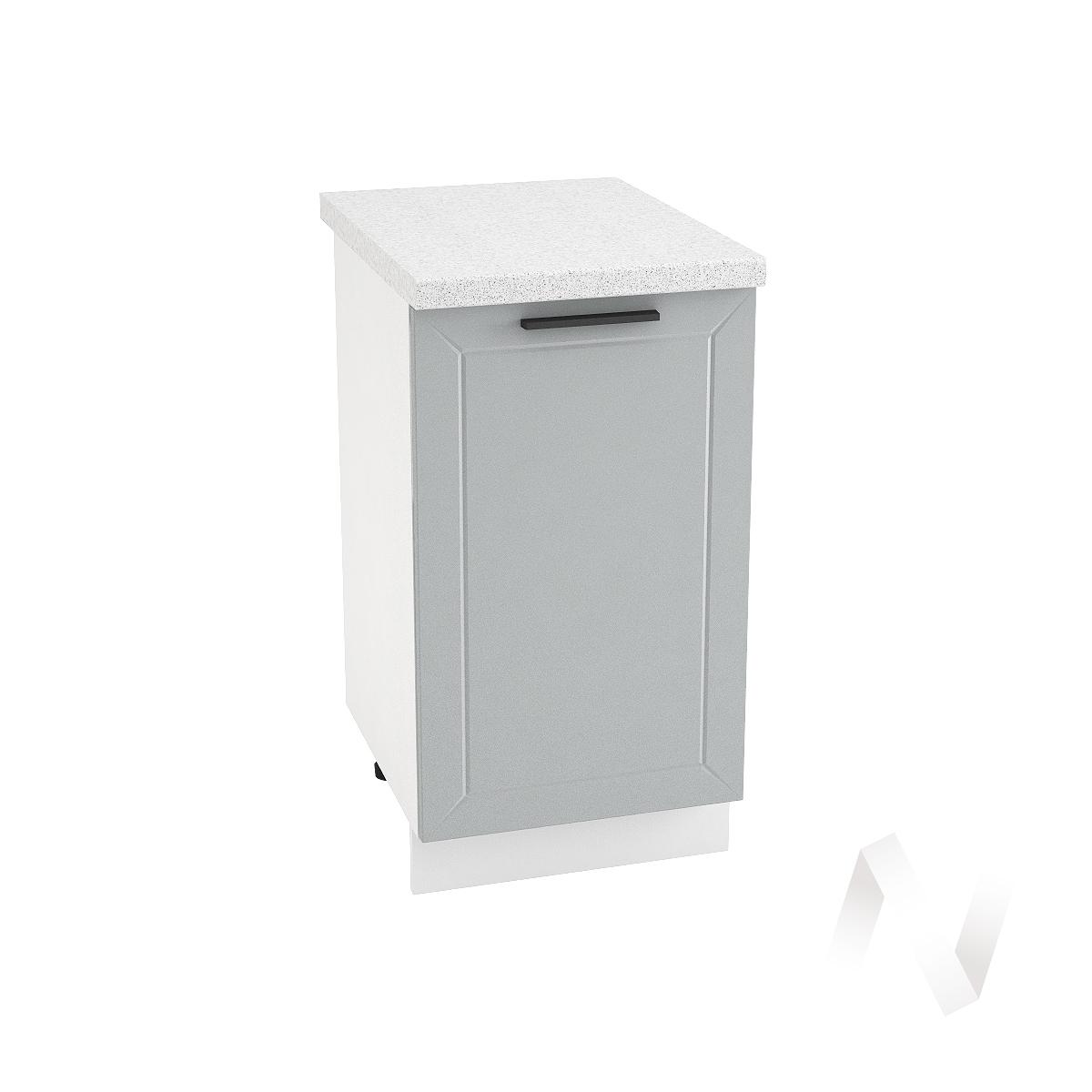 "Кухня ""Глетчер"": Шкаф нижний 450, ШН 450 (Гейнсборо силк/корпус белый)"