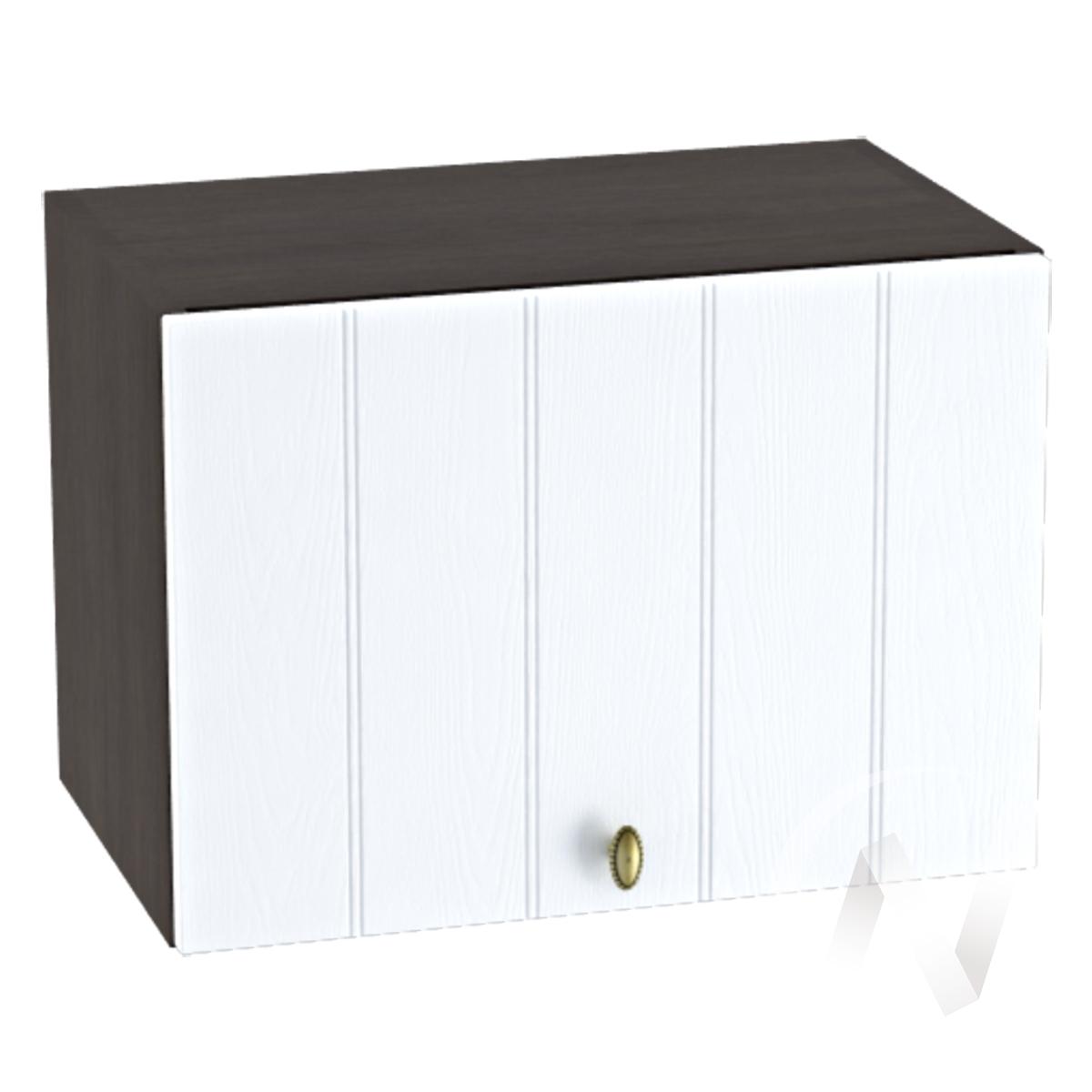 """Кухня """"Прованс"""": Шкаф верхний горизонтальный 500, ШВГ 500 (белое дерево/корпус венге)"""
