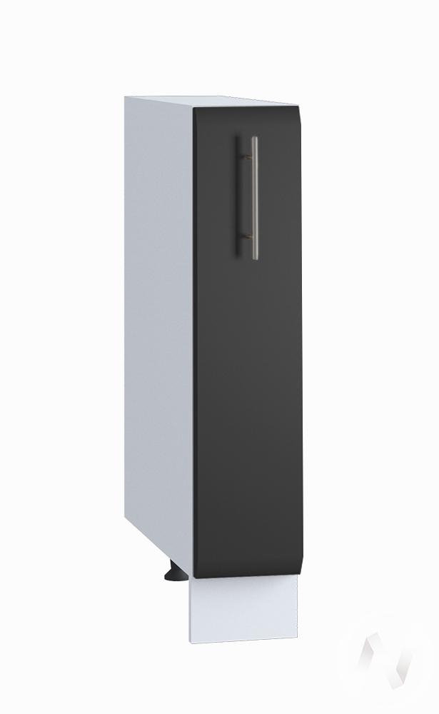 "Кухня ""Люкс"": Шкаф нижний бутылочница 150, ШНБ 150 (Шелк венге/корпус белый)"